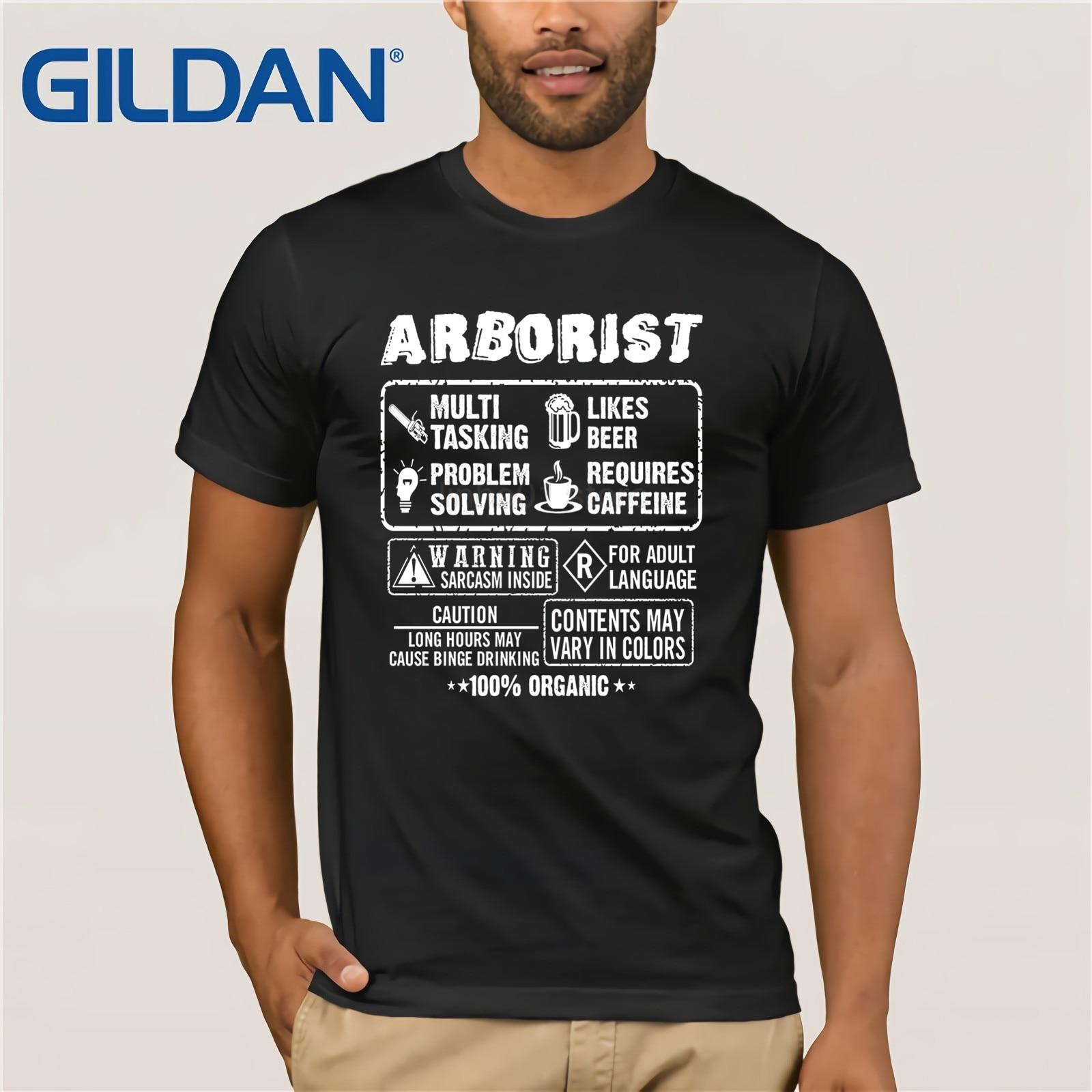Camiseta orgánica de Arborist 100% para el día de la madre ms. Camiseta de manga corta de verano 2019 para los hombres