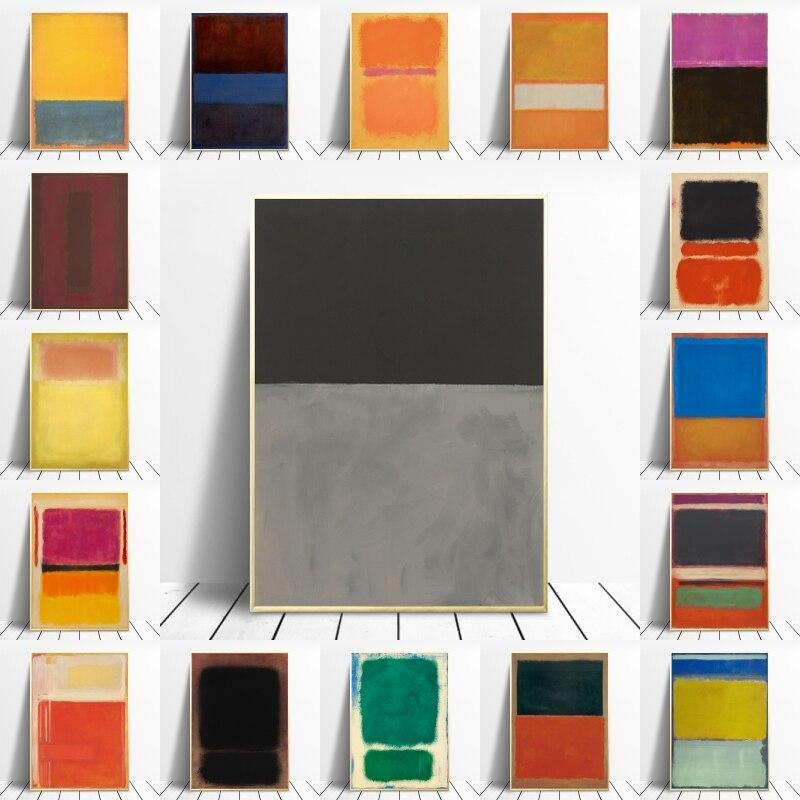 Абстрактные цветные художественные плакаты и принты, Скандинавская живопись маслом на холсте, настенные картины, домашний декор, Куадрос