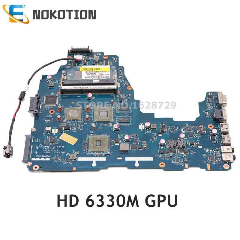 NOKOTION اللوحة لتوشيبا C660 C660D LA-6846P K000124450 K000128560 اللوحة HD 6330M الرسومات