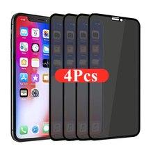 1-4Pcs 30 gradi proteggi schermo Privacy per IPhone 12 11 Pro Max 13 Mini vetro protettivo anti-spia per IPhone XS XR X 7 Plus