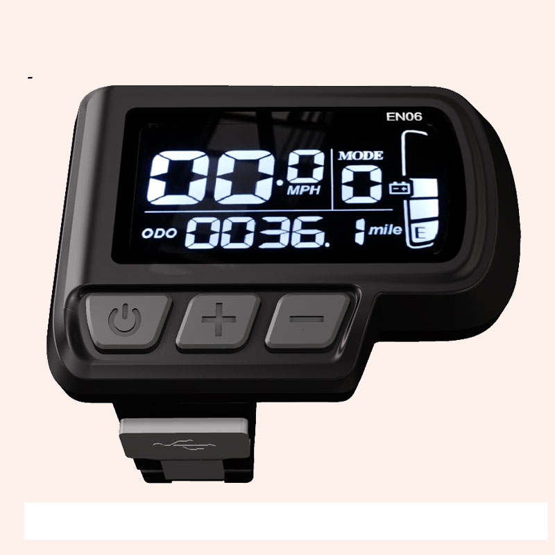 Ebike Display EN06 24V 36V 48V Display LCD Visor Do Painel de LCD Ebike Bicicleta Elétrica com USB