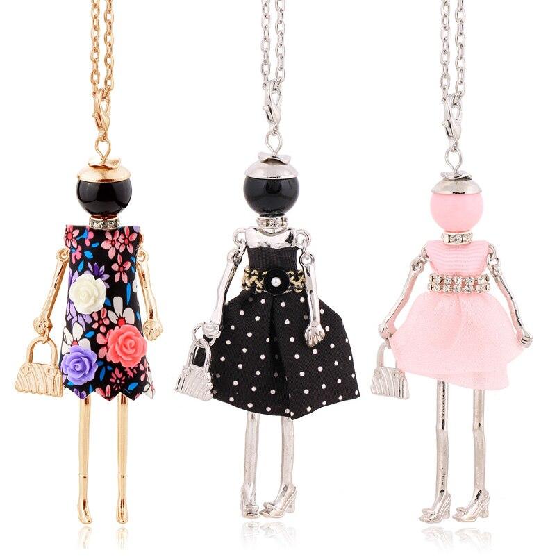 Nueva llegada moda Collar para mujer 2020 colgante flor collar largo niña encanto regalo accesorio de joyería