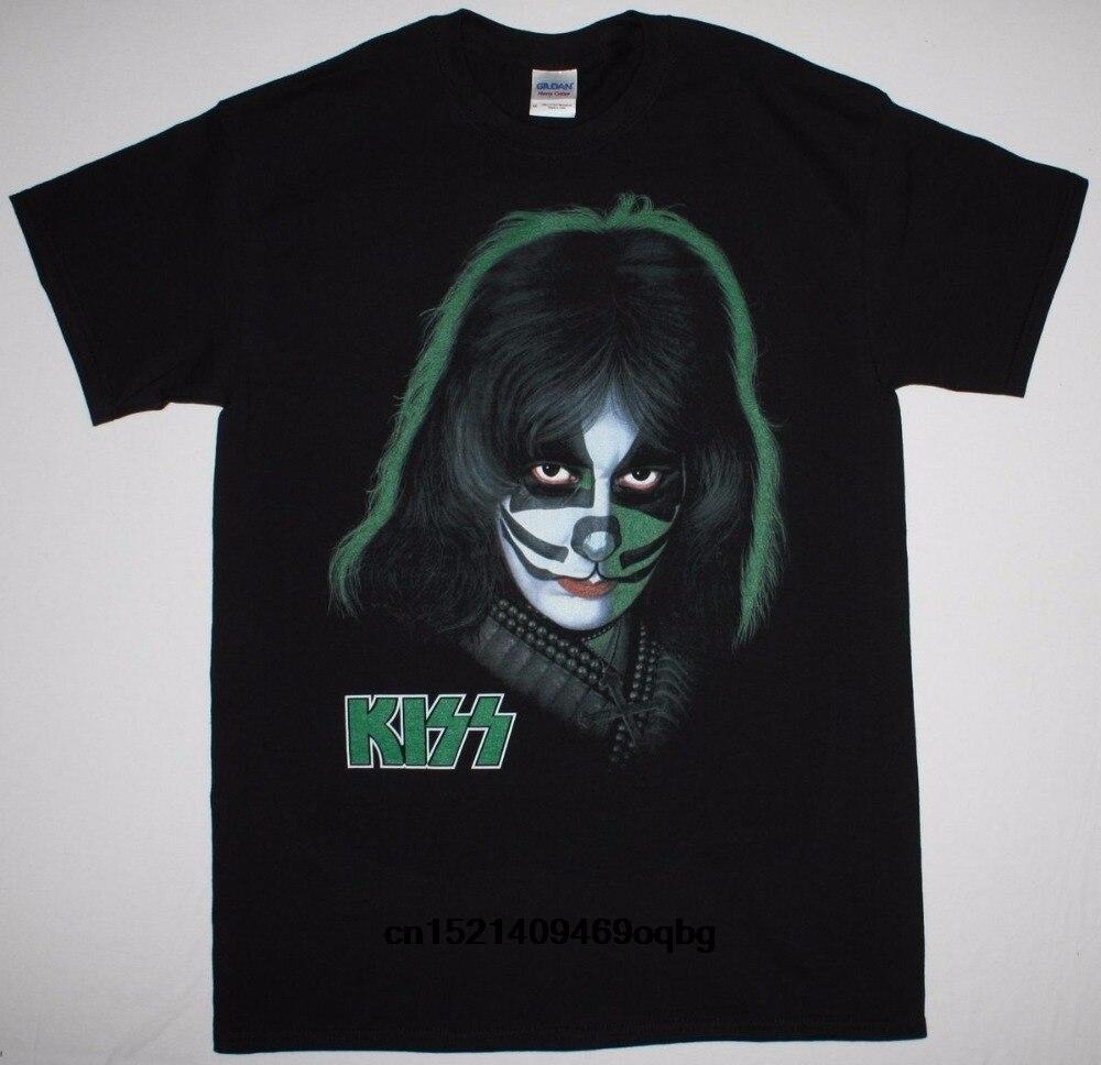 Camisetas Cool en línea de cuello redondo de manga corta alto beso Peter Criss T camisa