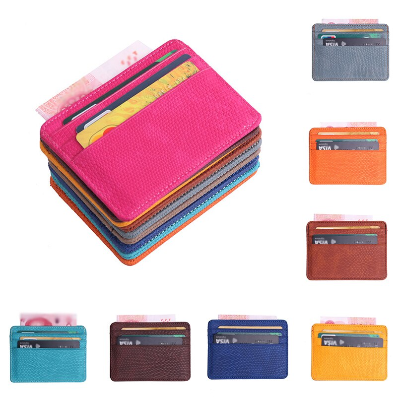 Card Wallet Id Holders Porte Carte Fashion Women Lichee Pattern Bank Card Package Coin Bag Card Holder Tarjetero Hombre Carteras