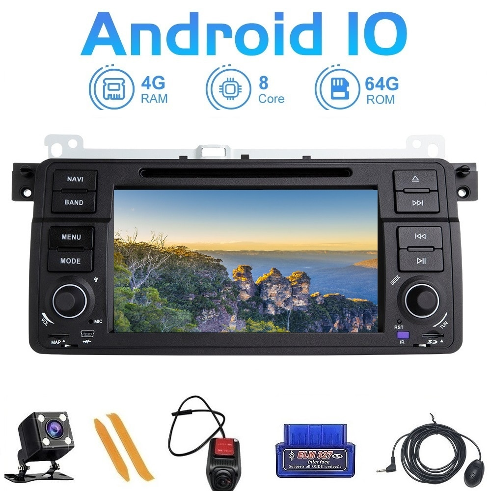 ZLTOOPAI-راديو السيارة 7 بوصة ، Android 10 ، نظام الملاحة GPS ، مشغل الوسائط ، DVR ، CD ، لسيارات BMW E46 ، Sedan ، Coupe ، Touring M3 ، Rover 75 ، MG ، ZT