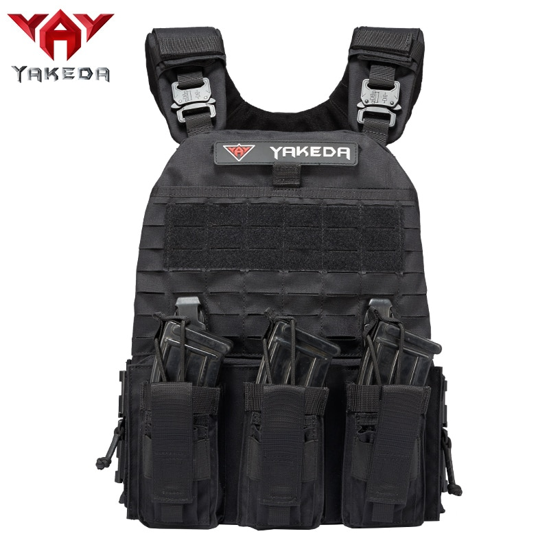 YAKEDA quick release lightweight military molle modular soft hard armor tactical plate carrier vest with cummerbund pouches