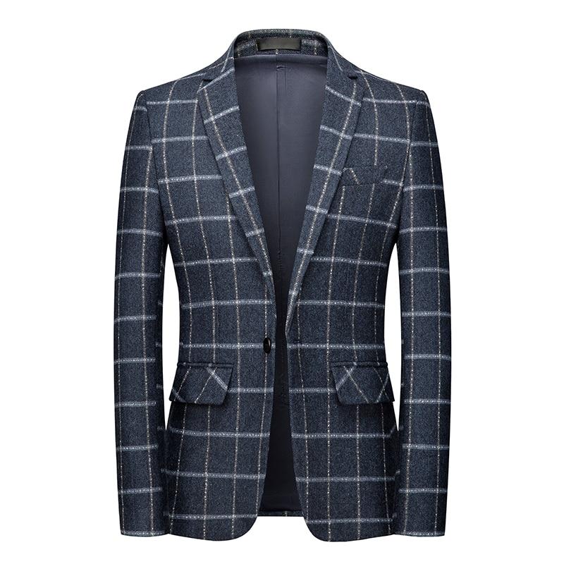 Брендовая одежда 2021, деловой повседневный мужской костюм большого размера, Весенняя новая брендовая одежда, Высококачественный Свадебный ...