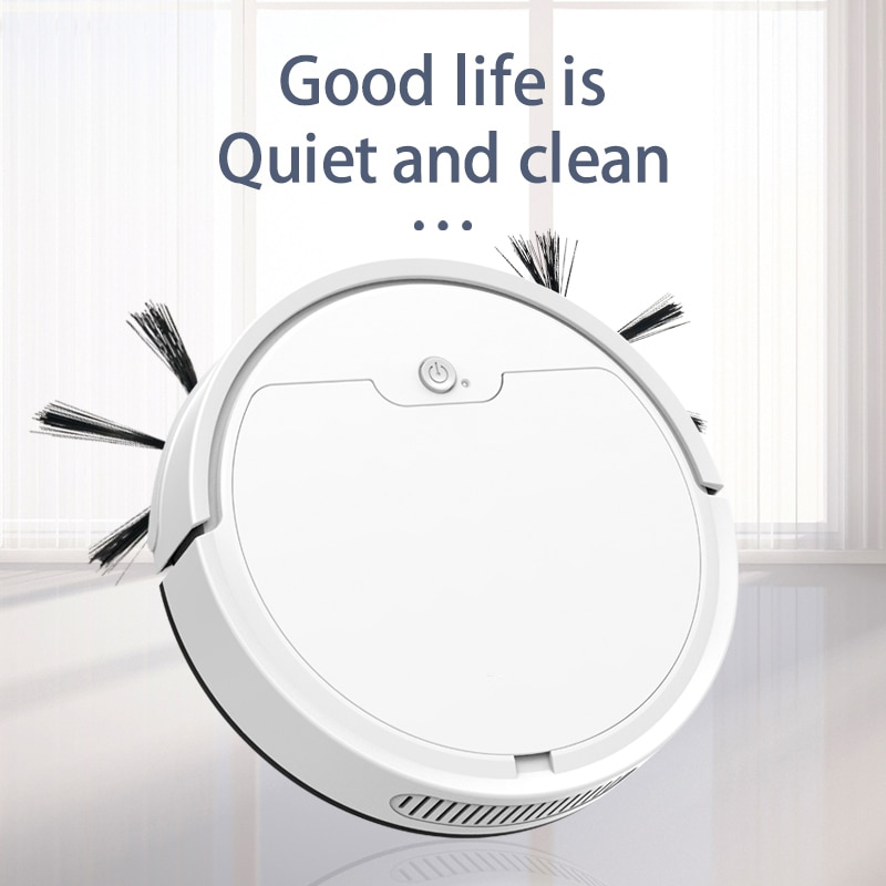Фото - Automatic Robot 3-In-1 App Remote Control Smart Sweeping Robot Wireless Cleaning Machine Charging Intelligent Vacuum Cleaner xiaomi mijia 1s mi robot vacuum cleaner for home automatic sweeping charge smart wifi app remote control dust sterilize rc cleaner