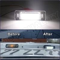 2pcs canbus white led license plate light number plate lamp for mercedes benz w210 e300 e320 e420 w202 4d c230 c280 c43 amg