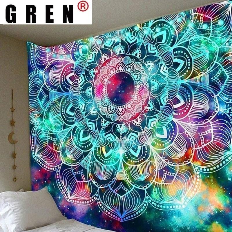 GERN иллюзорным Wall Art яркая флуоресцентная гобелен Ins гобелены бытовой прикроватная украшения ткань висит Tapiz домашний декор