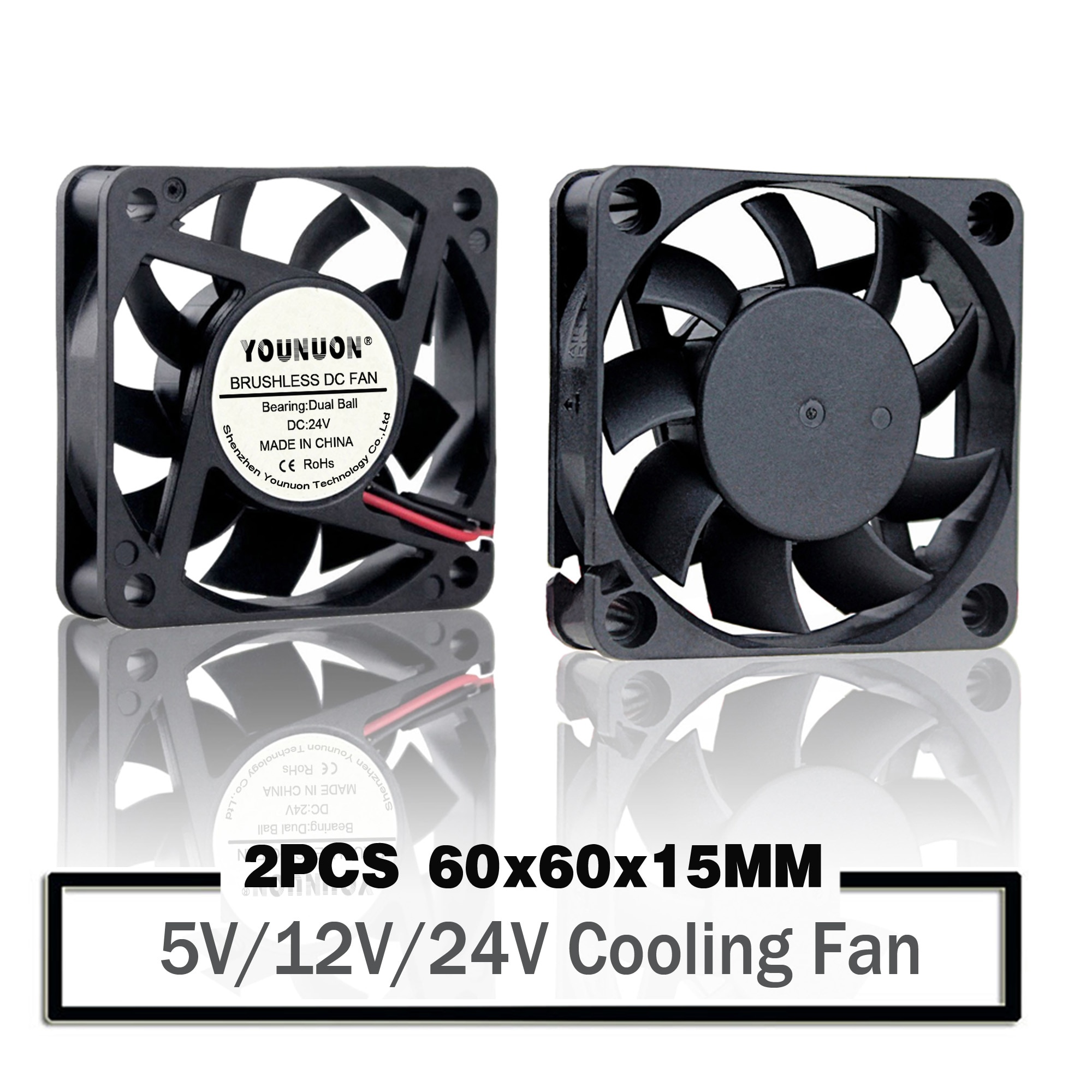 2 Pieces 60mm 6015 5V 12V 24V Brushless USB 2PIN 3PIN DC Cooler Fan 60x60x15mm 6015 6cm For Computer PC CPU Case Cooling 5pcs lot gdstime 6015 2pin 60mm 60 60x15mm 12v dc computer cpu cooling fan 6cm cooler