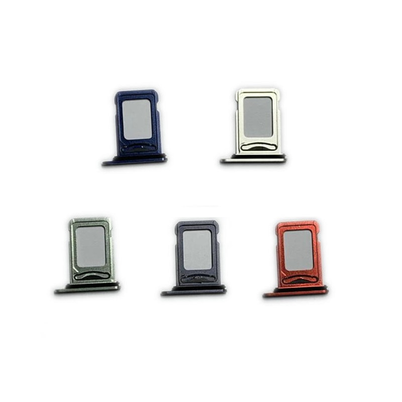 Silver/Black/Blue/Red/Green Color Dual SIM Card Tray Holder for Apple iPhone 12