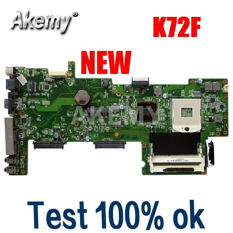 K72F اللوحة REV2.0 HM55 DDR3 ل ASUS X72F K72F A72F اللوحة المحمول K72F اللوحة K72F اللوحة 100% اختبار العمل