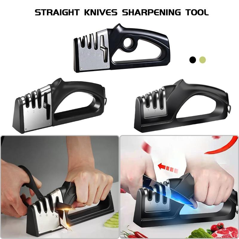 Новый 4 этап Ножи точилка Кухня ножи мясорубки Керамика алмаз камень Вольфрам точилка ножницы Ножи инструменты