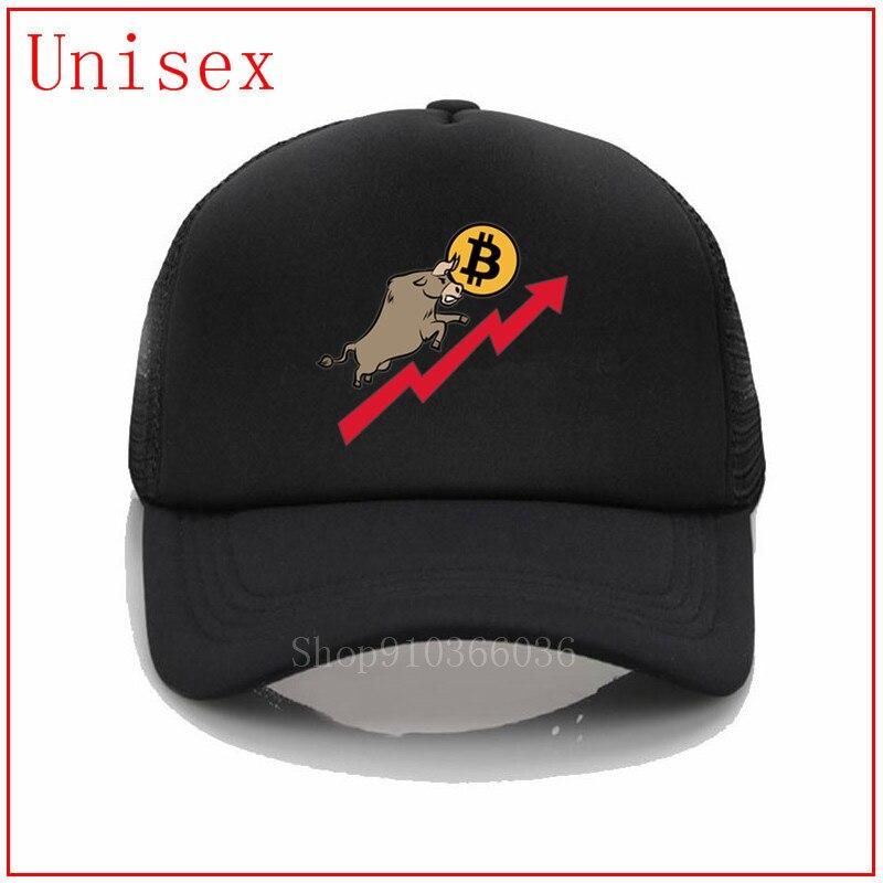 BITCOIN y BULL, Mercado de Valores, sombrero de béisbol BTC, gorras de mujer, nuevo diseñador de moda, visores de sol para mujer