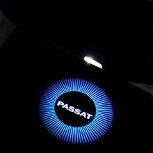Proyector de advertencias para puerta de coche LED 3D 2X con Logo Volkswagen passat para VW Passat B5 B5.5 2000-2010