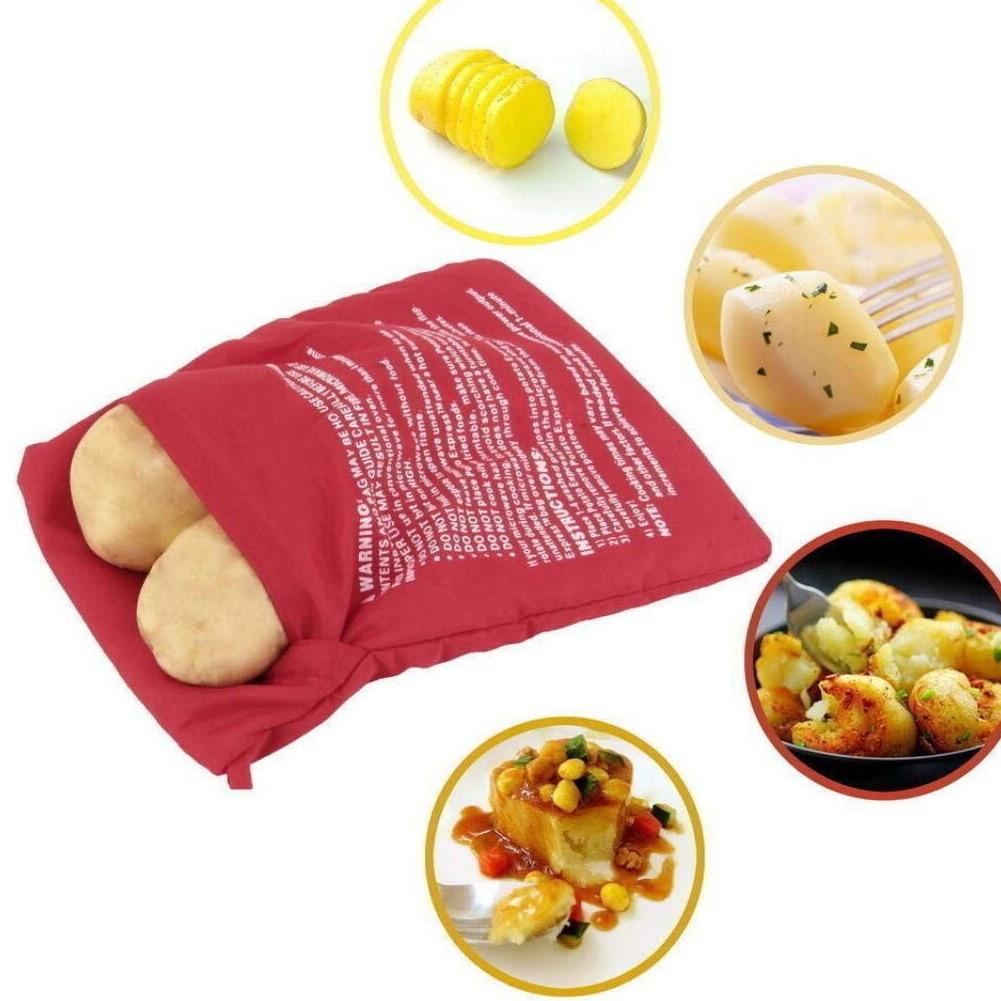 Washable Microwave Oven Potato Bag Reusable Roast Potato Baking Bag Pocket