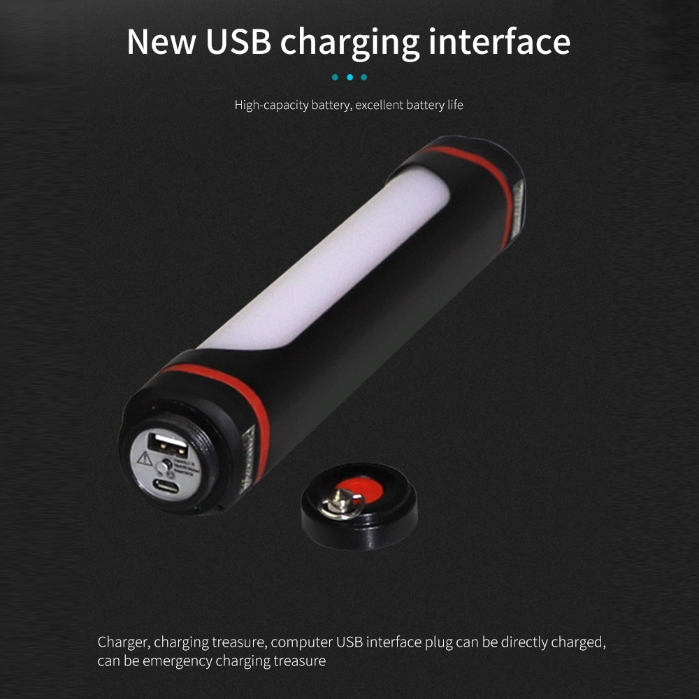 lanterna led portatil recarregavel detector faixa ajustavel iluminacao ao ar livre