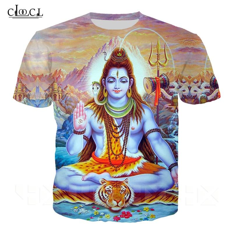 Senhor indiano shiva t camisa das mulheres dos homens 3d impressão moda roupas senhor shiva t camisa harajuku streetwear topos de manga curta pullovers