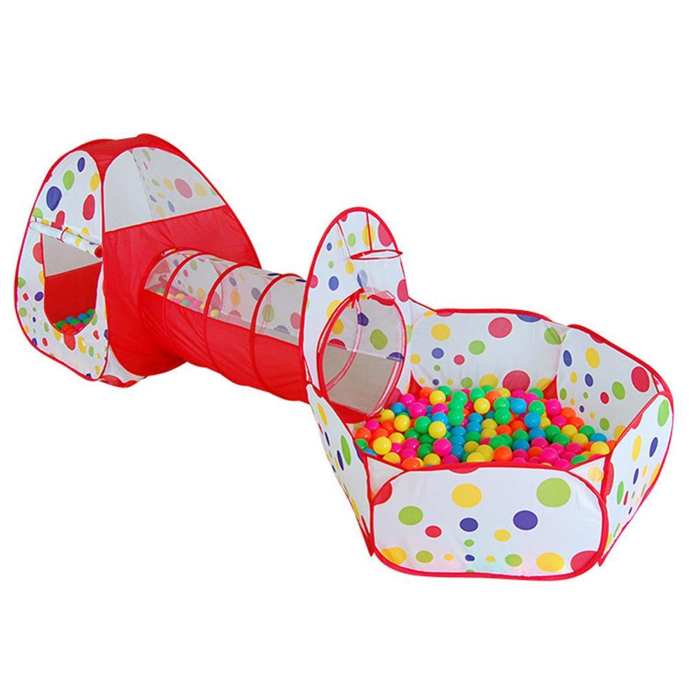 Большой Детский тент для детей, детская трубка для бассейна, Игровая палатка для детей, бассейн с океаническим мячом, складной детский трубопровод, игровой домик для ползания