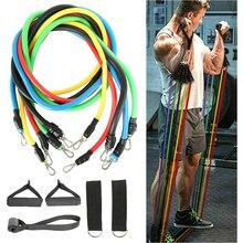 Bandes de résistance élastiques réglables 11 pièce/ensemble, en caoutchouc, équipement de Fitness, Crossfit, entraînement musculaire à domicile