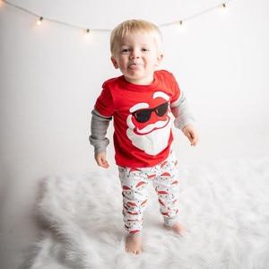 Toddler Set Coat Kids Baby Girls Fashion Autumn Winter Christmas  Santa Cartoon O-Neck Tops+Lovely Pants Casual Sports Children