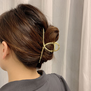 Ins Cross Hair Claw Clips For Women Oversize Solid PC Crabs For Hair Ponytail Holders Korean Brand Hair Clamp Headwear Accessory