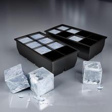Moule Jumbo géant Silicone   8 gros Cub-e carré plateau de glace, moule en Silicone noir, bricolage moule gâteau dessert et Biscuits