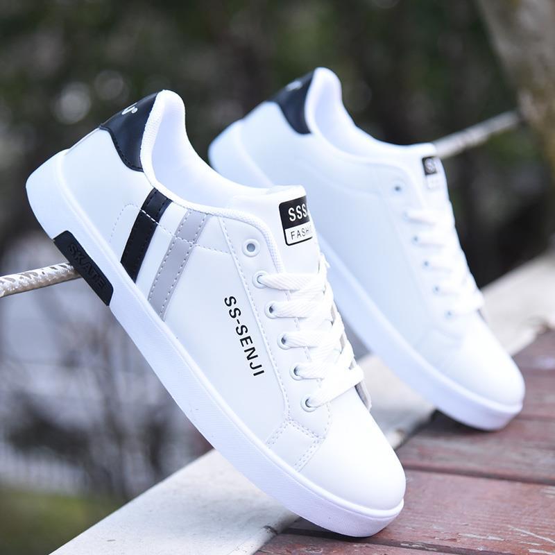 Кроссовки мужские кожаные, легкие лоферы, Повседневная Классическая обувь, Нескользящие, дешево