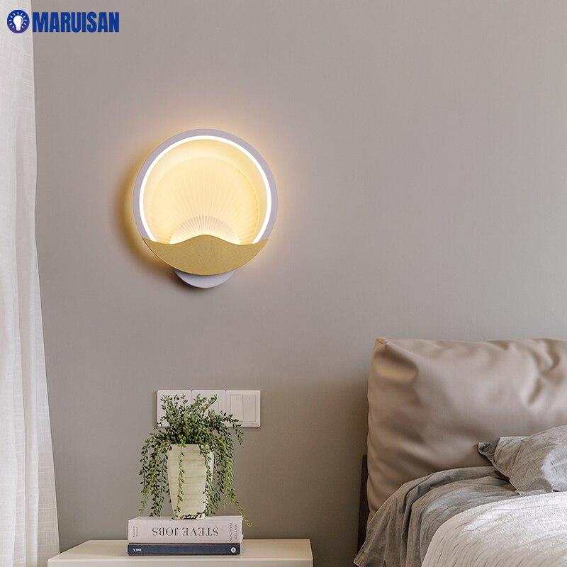 مصباح جداري LED حديث وبسيط ، مصباح حائط داخلي ودافئ ، للممر ، الممر ، الفندق ، غرفة المعيشة ، المطبخ ، جديد