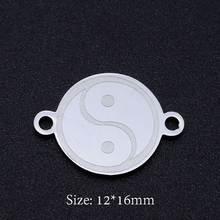 5 teile/los Yin Yang Symbol 316L Edelstahl DIY Stecker Charms Großhandel Für Armbänder, Der Super Qualität Hochglanz