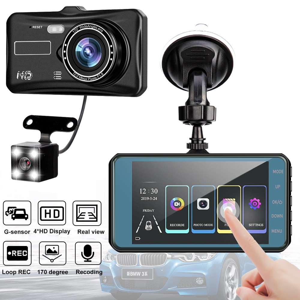 car speed radar detector 2 in 1 car dvr camera dashcam g sensor video recorder hd 1080p dash cam wdr night vision registrar Car Video Recorder Dash Cam Dual Lens HD 1080P Auto Digital 4'' IPS Touch Screen DVR Camera G-Sensor WDR Car DVRS Dashcam Camera