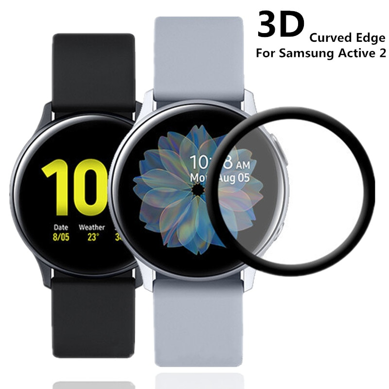 20D Screen Protectors Film Soft For Samsung Galaxy Watch Active 2 40mm 44mm Full Cover Curved Edge P
