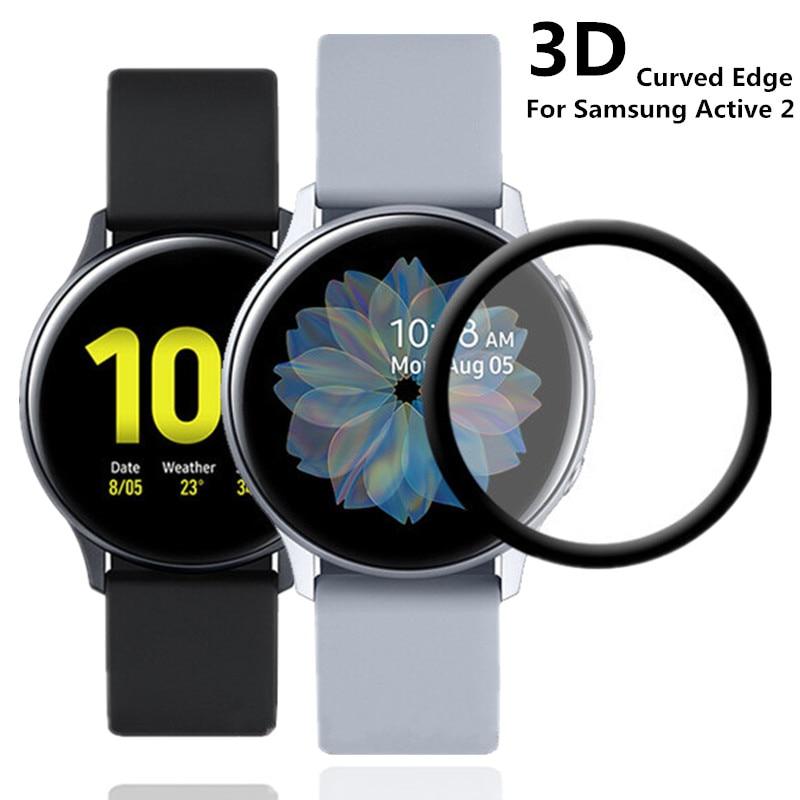 Film de protection d'écran 20D souple pour Samsung Galaxy Watch Active 2 40mm 44mm couverture complète bord incurvé de protection résistant aux rayures