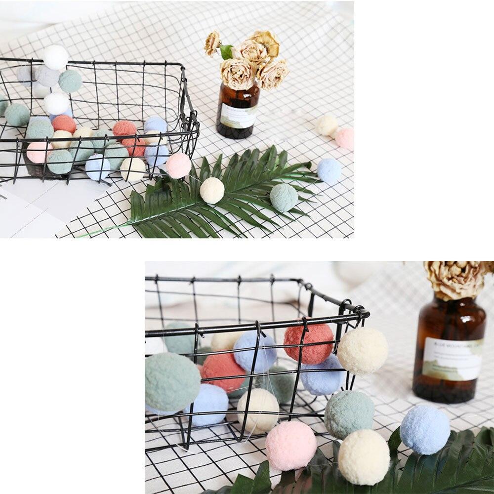 Bolas de pompón DIY, 30 Uds., decoración colgante de Pompón, adorno artesanal para el hogar, decoración de pared de habitación de niños, guirnalda de bolas de felpa para guardería