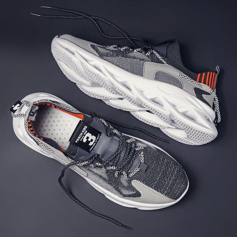 2020 dos homens novos calçados casuais das sapatilhas das sapatas dos homens da lâmina à prova de choque respirável sapatos de desporto dos homens aumentando sapatos Tenis masculin