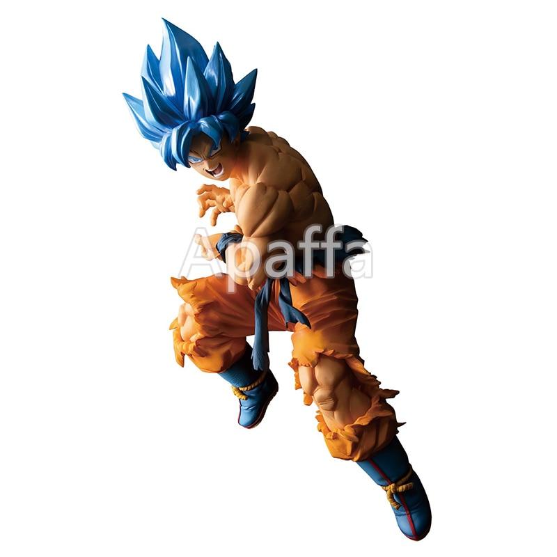 Estatueta dragon ball 17cm son goku figura brinquedos cabelo azul vegeta figura de ação desktop decoração coleção modelo boneca para presente