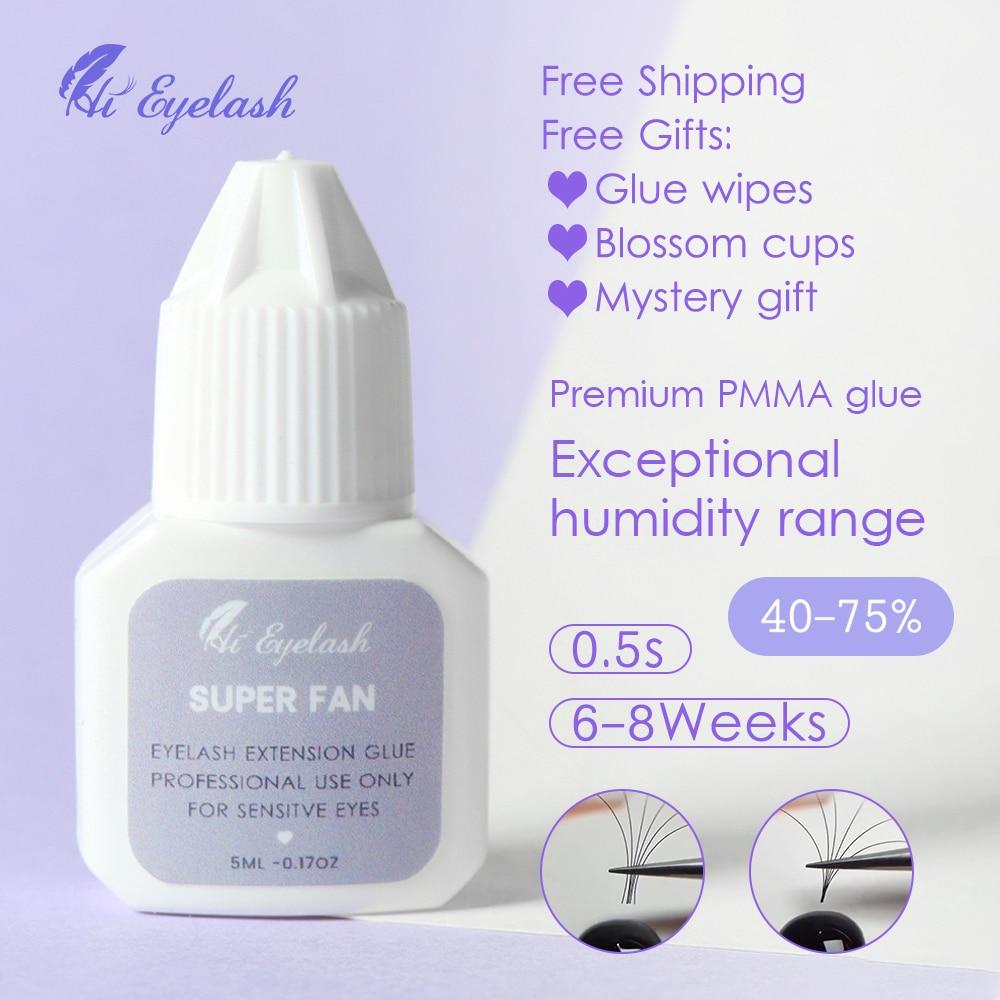 5ml Eyelash Extension Glue Private Label 0.5s Fast Drying Lashes Sensitive Adhesive Waterproof Lasting Korea