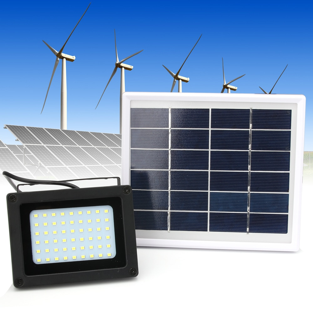 Solar 54LED Sensor de luz inundación punto lámpara jardín exterior seguridad impermeable luz Solar 54 LED luz Solar