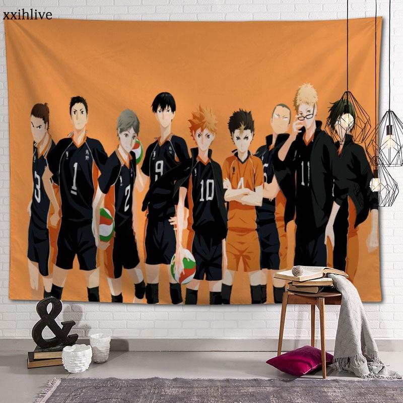 Японское Аниме Haikyuu на заказ! Гобелены домашний вечерние украшения гобелены фоновая ткань для фотографирования 100x150 см, 130x150cm
