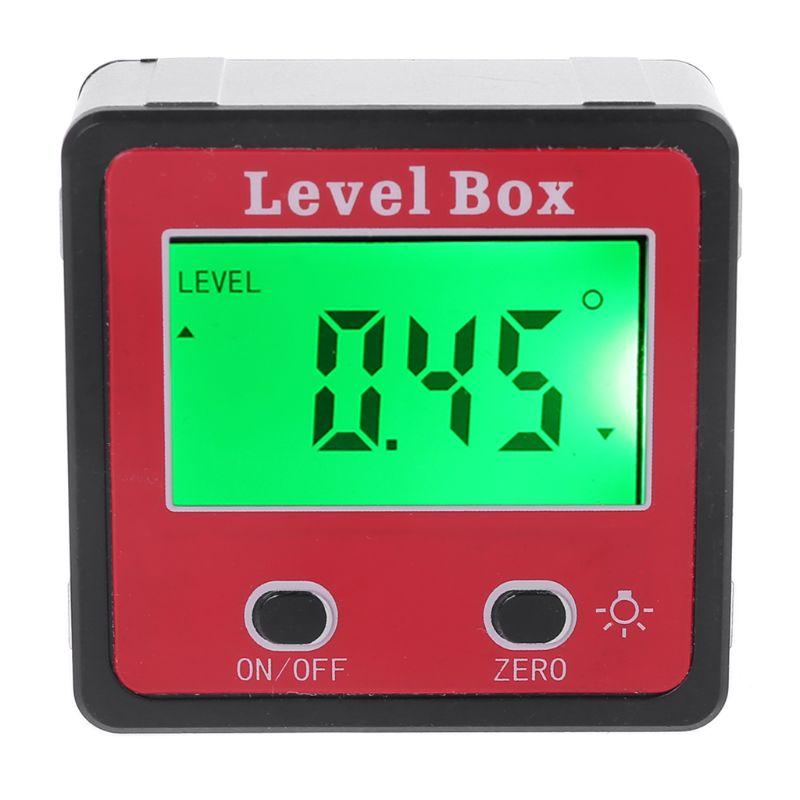 Inclinómetro de nivel de burbuja Digital LCD, medidor de ángulo transportador, nivel cónico, Base magnética