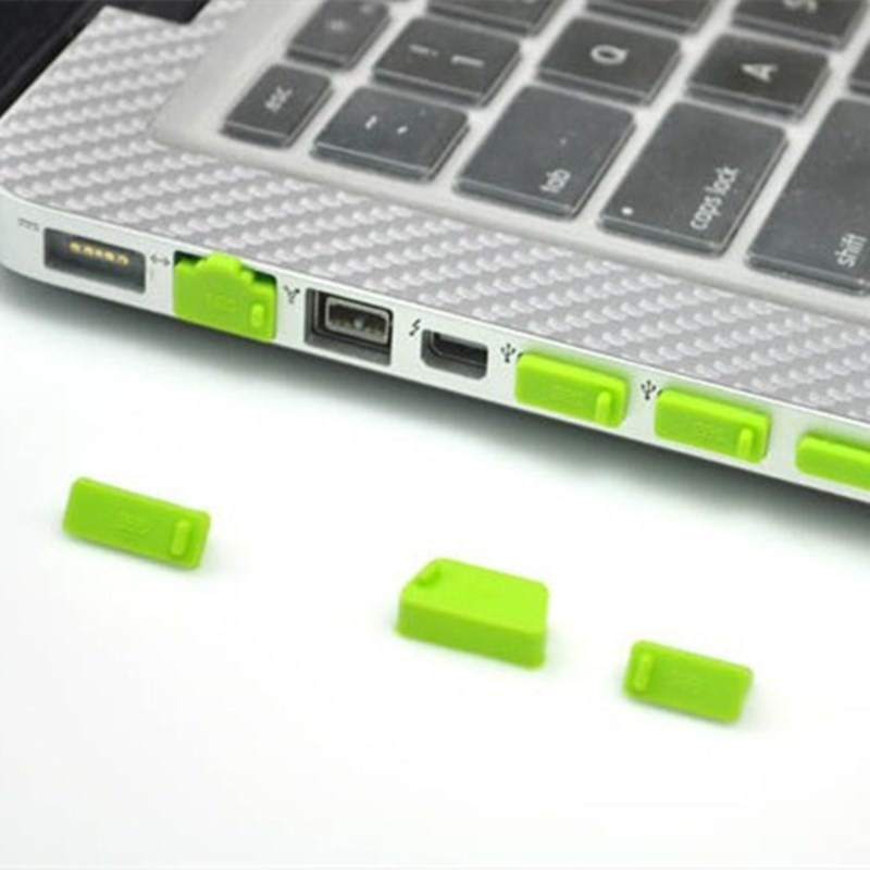 13pcs Computer Dust Plug Colorful Silicone Anti Dust Plug Computer Cover Laptop Waterproof Plug Laptop Dustproof for crown reiz electronic steering computer plug electronic power steering computer plug connector