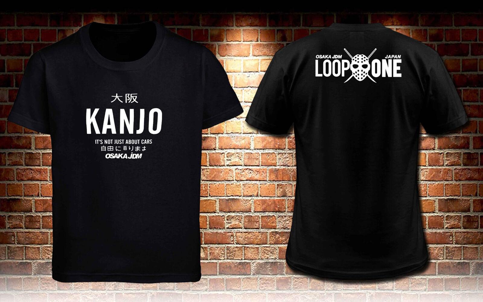 Black T-Shirt Jdm Hon Kanjo Box Men'S T Shirt S To 3Xl