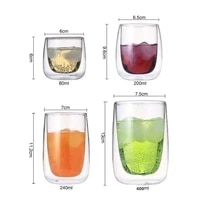 wine glasses drinking tumbler whiskey vodka cup coffee juice water cups tea creative mug double bottom glass mugs for home