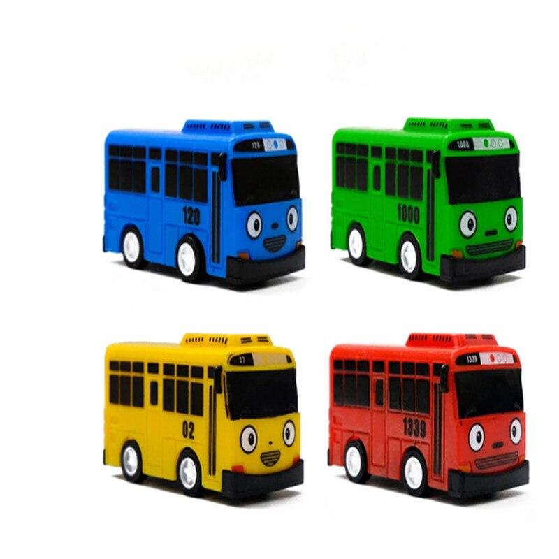 Мини-автобус TAYO, мультяшный автобус, игрушечный автобус, Корейская аниме модель автобуса, Детская развивающая игрушка, подарок для детей на ...