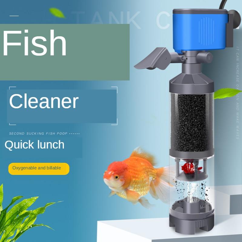 Tanque de peixes filtro separador três-em-um purificação de água bomba de filtro de circulação acessórios de filtro de tanque de peixes