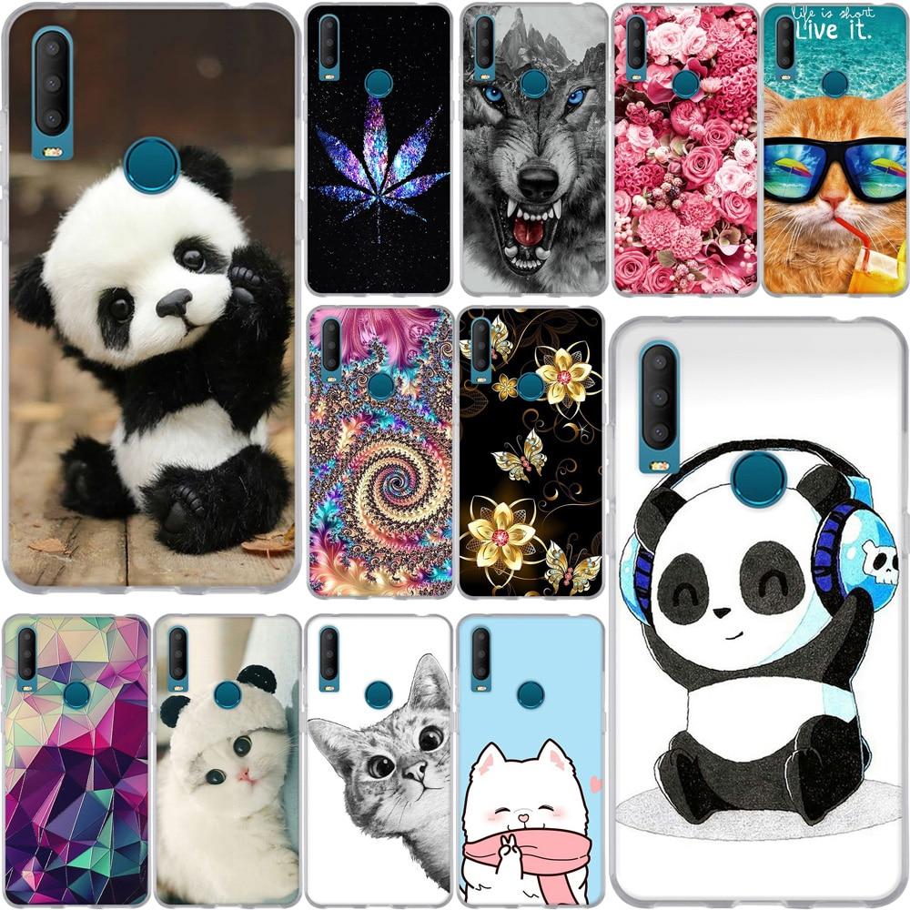 "6.52"" For Alcatel 3X 2019 5048U 5048Y Case Silicone Luxury Soft TPU Cute Cartoon Panda Pattern Phone Back For Alcatel 3X2019 Bag"