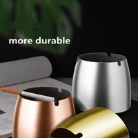 stainless steel windproof ashtray cigarettes smoke ashtray with cover for for home office