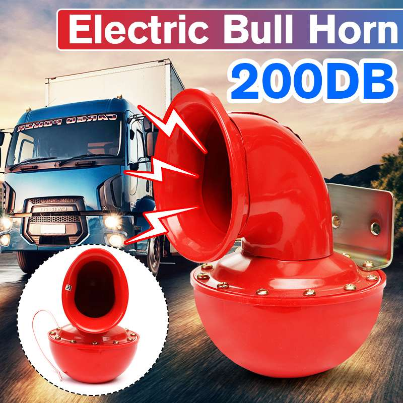Bocina eléctrica tipo Caracol ruidosa de 200DB 12V sonido intenso para coche motocicleta camión barco grúa 2020 nuevo coche aire Caracol Toro cuerno