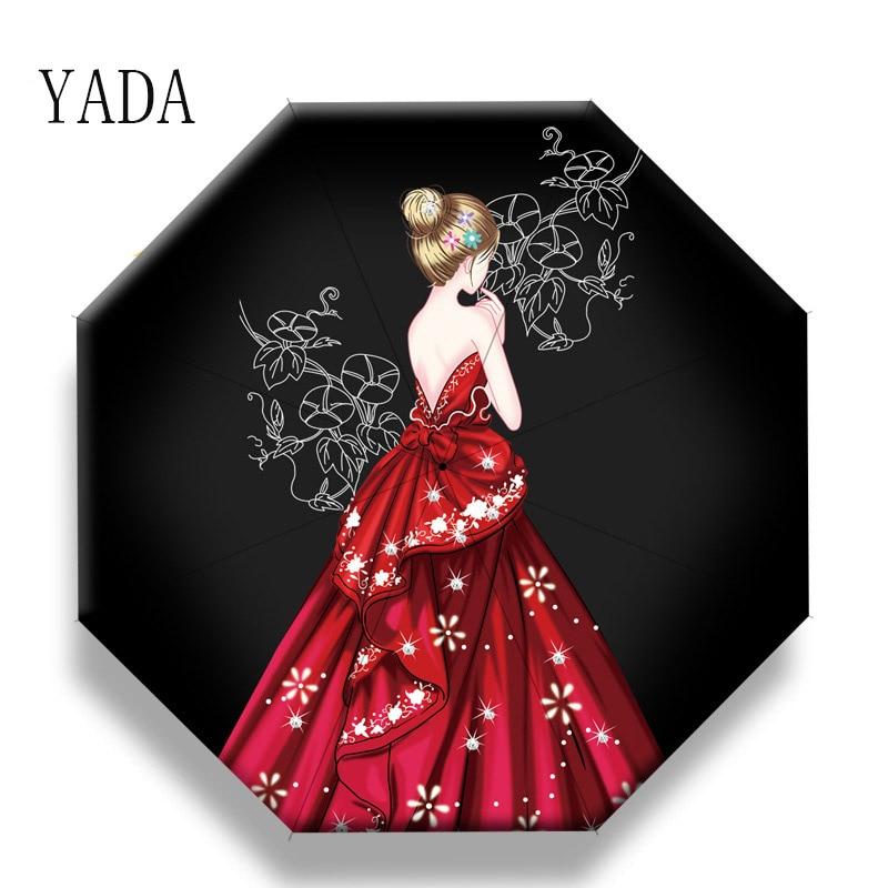 Automática para Mulher Guarda-chuva dos Desenhos Yada Design Dobrável Guarda-chuva Menina Anti-uv Adorável Chuvoso Animados Urso Bonito Animal Yd200049
